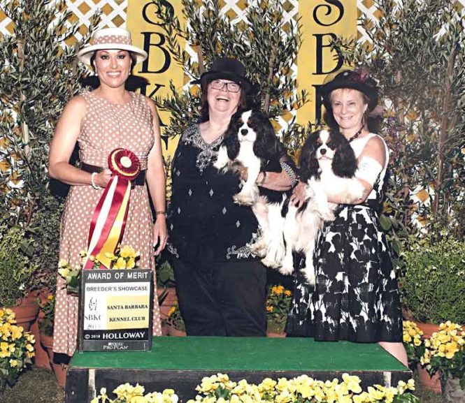"(pictured left to right; Judge Kathy Garcia, Jennifer Roberts-Espinosa, Bonnie Watts along with La Reina's What About Me ""Mimi"" and her son, La Reina's 'Splain It To Me ""Ricky"""